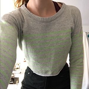 Aeropostale Cropped Sweater Striped S